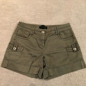 White House Black Market Green Shorts